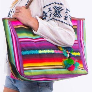 Pepita Stripe Bag - Star Mela NWT